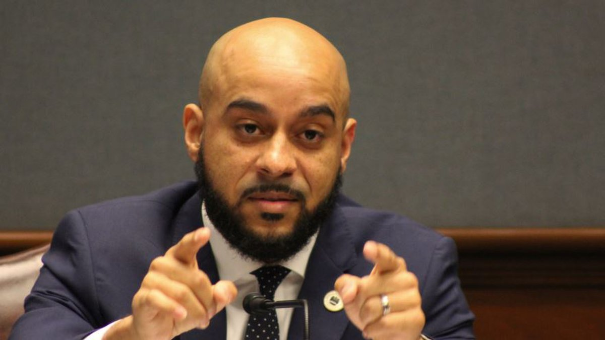 Rep. Royce Duplessis, D-New Orleans, questions critics of a bill that would allow local...