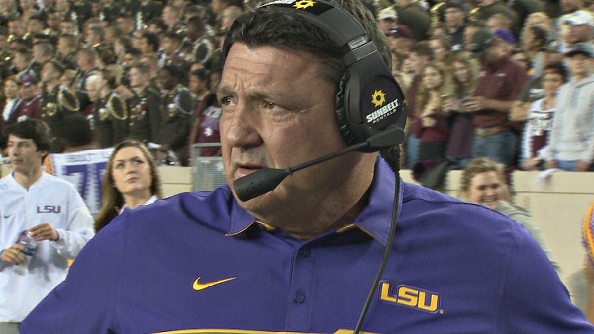 LSU head coach held his weekly Zoom meeting with sports journalists on Monday, Nov. 16, to...