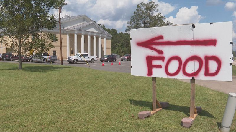 Free food at First Baptist Church of Pollock