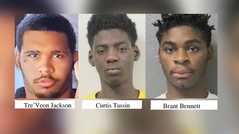 Tre'veon Jackson, Curtis Tassin, and Brandt Bennett