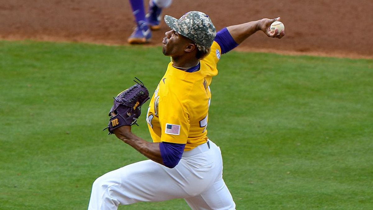 LSU pitcher Jaden Hill (44)