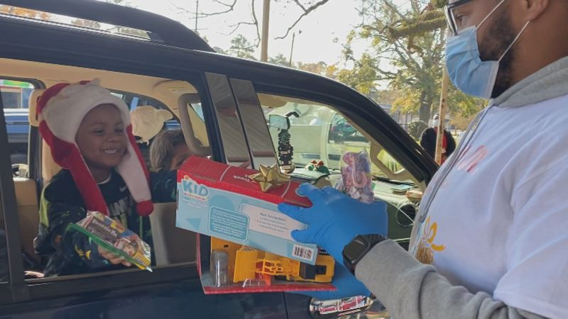 Buffalo Bills Defensive Lineman Ed Oliver Jr. and his family and friends hosted a Christmas toy...