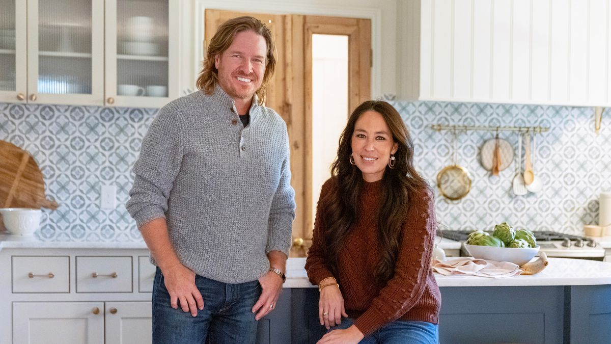 This image released by Magnolia Network shows Chip and Joanna Gaines from the sixth season of...