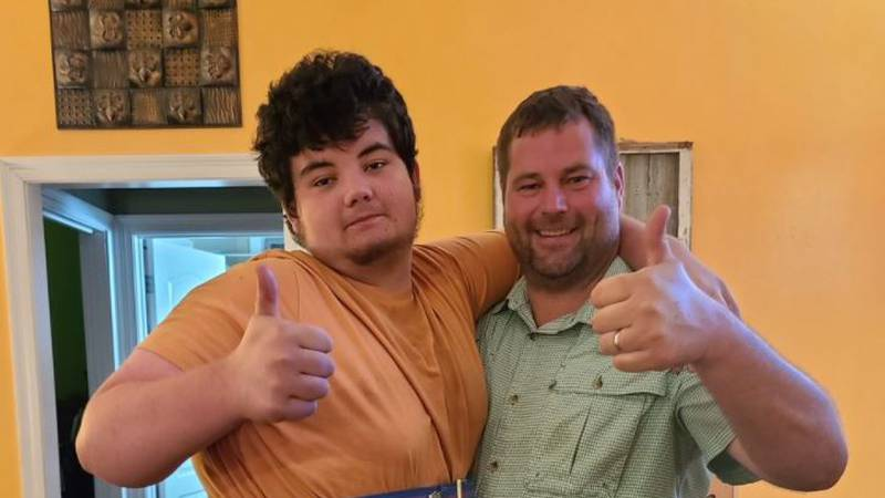Drake Guillot has accomplished his goal to stand up and hug his father for the first time since...