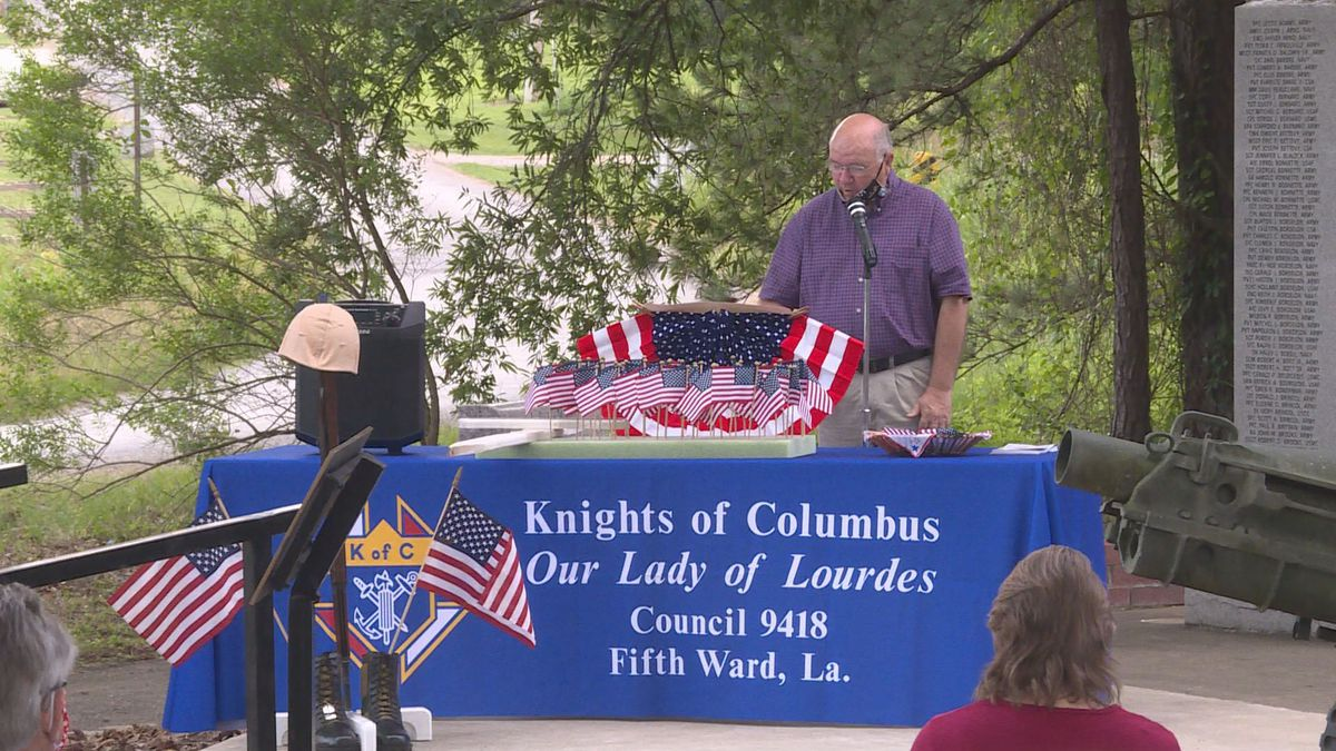 More than 60 people showed up in Marksville for the Memorial Day Observance. | KALB