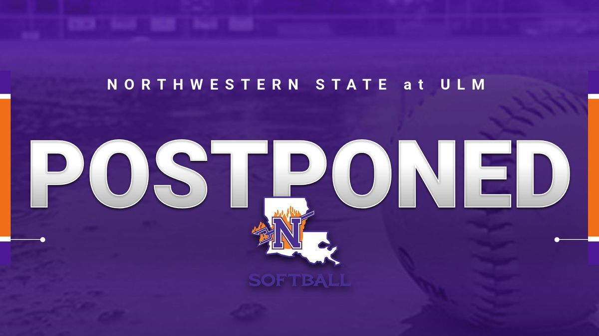 The Northwestern State softball team's opening-season series Sunday against ULM has been...