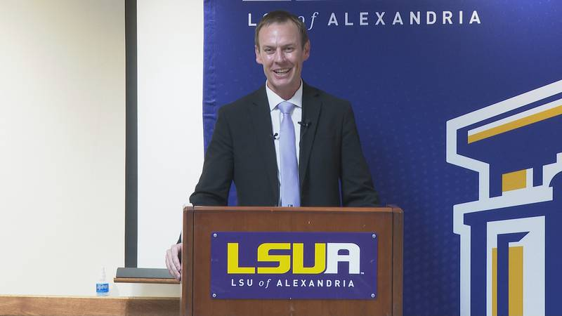 Tyler Unsicker being introduced as the new LSUA Athletic Director on Tuesday, September 28, 2021.