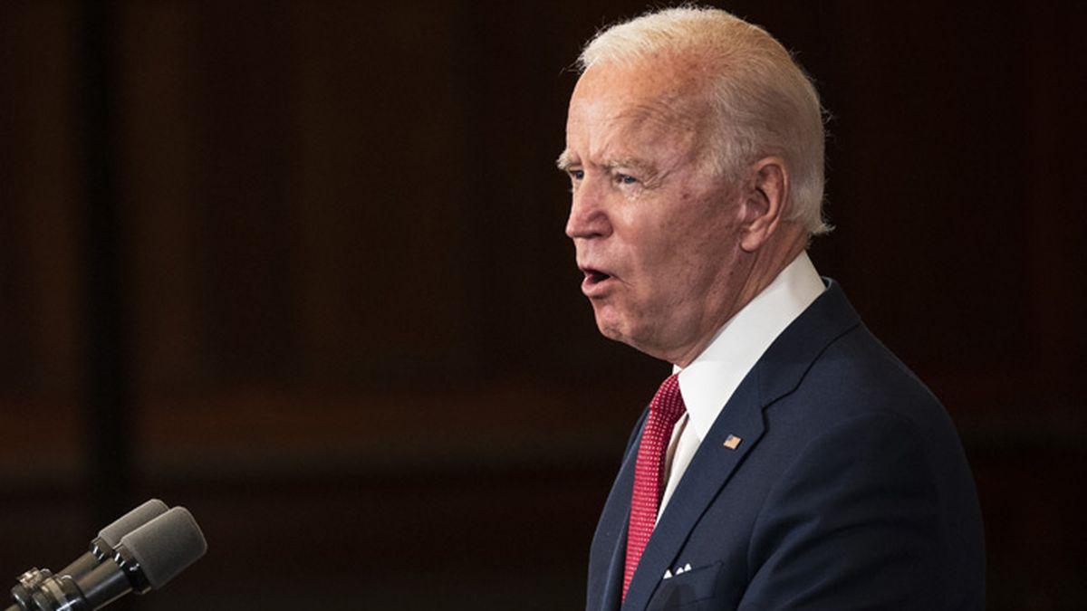 Democratic presidential candidate, former Vice President Joe Biden speaks in Philadelphia, Tuesday, June 2, 2020. (AP Photo/Matt Rourke)