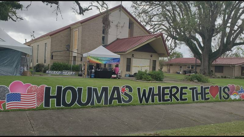"""""""Houma's Where the Heart Is"""" event in Montegut to help those recovering from Hurricane Ida."""