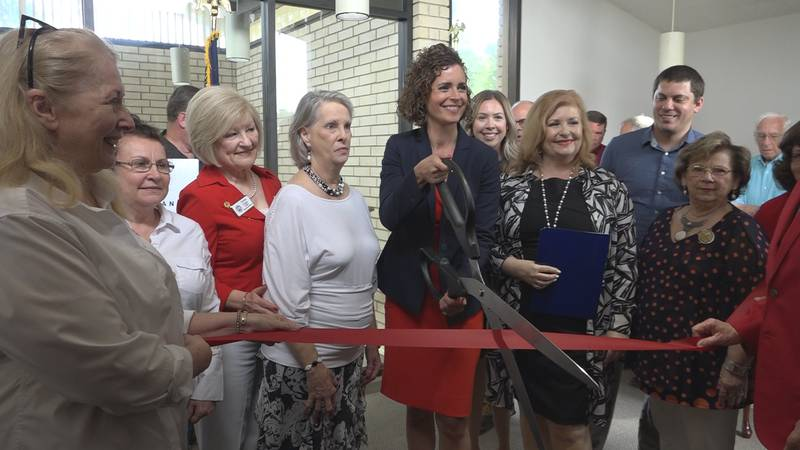 Rep. Julia Letlow (R) for the 5th Congressional District of Louisiana held a grand-opening for...