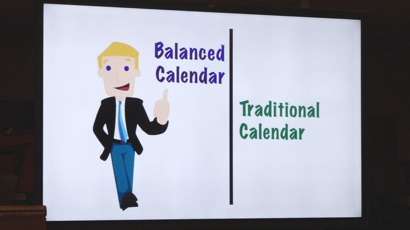RPSB held a meeting at Peabody High School to discuss the idea of a balanced calendar.