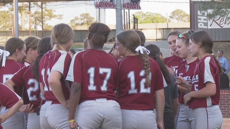 The Pineville Lady Rebels softball team beat the Calvary Cavaliers, 6-2.