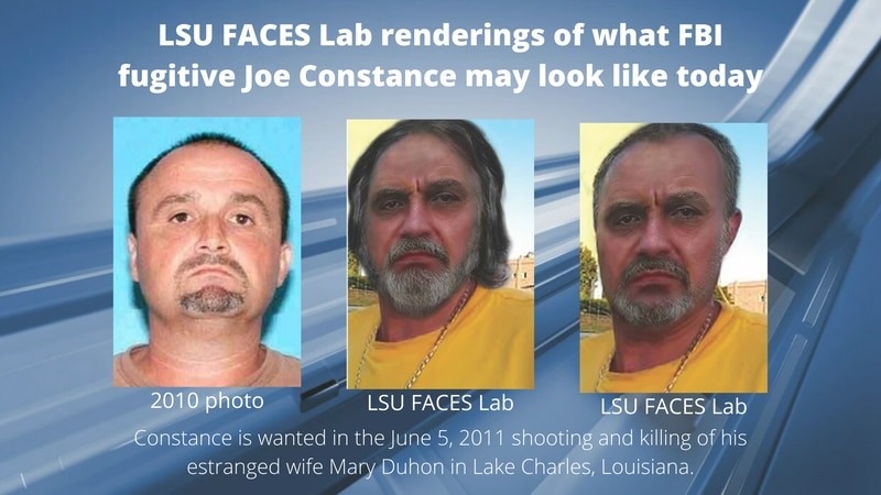 LSU FACES Lab renderings of what Joe Constance may look like today. Constance has been on the...