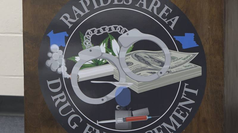 A logo for RPSO's RADE unit that was displayed at a press conference on October 21, 2021.