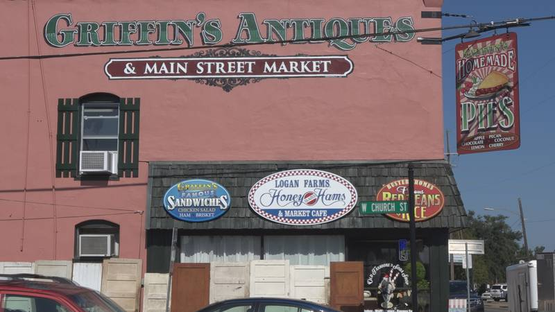 Griffin's Antiques and Main Street Market in Bunkie, La. on October 6, 2021.