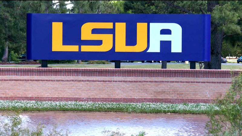 LSUA sign at Alexandria, La campus.