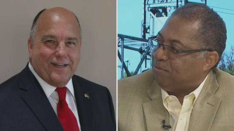Daryl Terry and Alexandria Mayor Jeff Hall