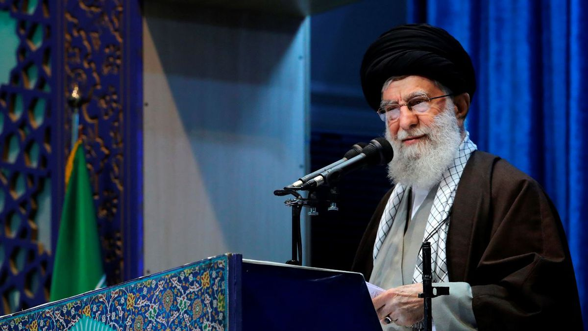 In this photo released by an official website of the office of the Iranian supreme leader,...
