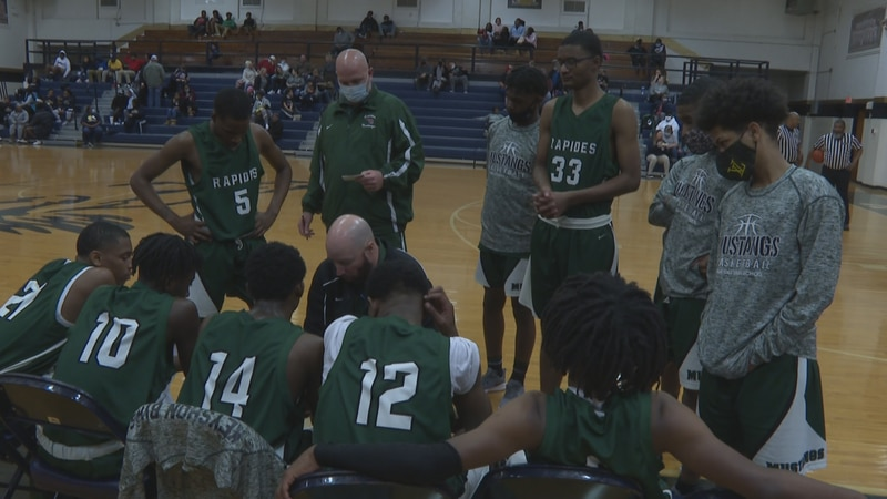 The Rapides Mustang boys' basketball team beat the Avoyelles Mustangs, 67-49.