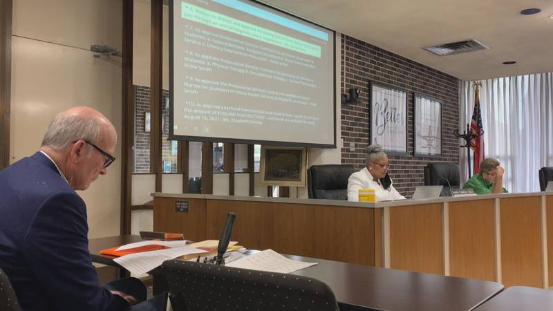 The Rapides Parish School Board meeting on July 6, 2021 in Alexandria, La.
