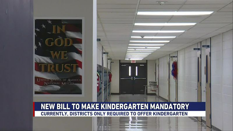 Currently, state law requires school districts to offer kindergarten but attendance is not...
