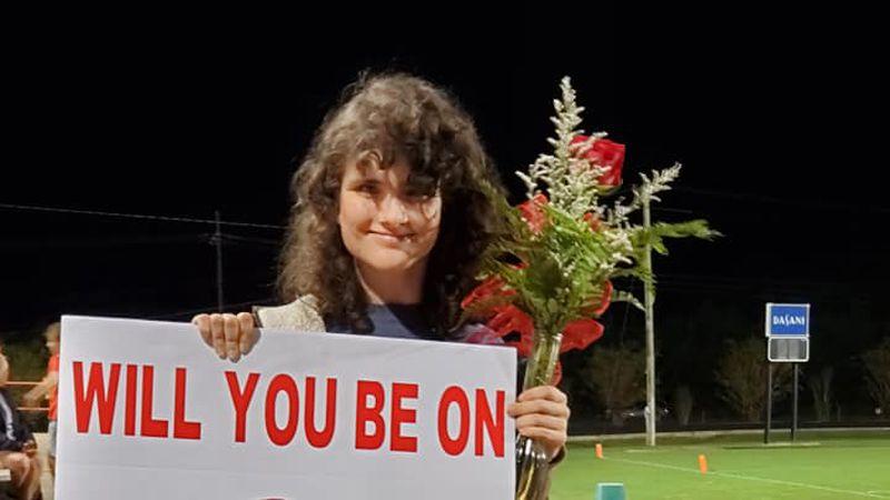 Laura Wroten accepts homecoming court invitation.