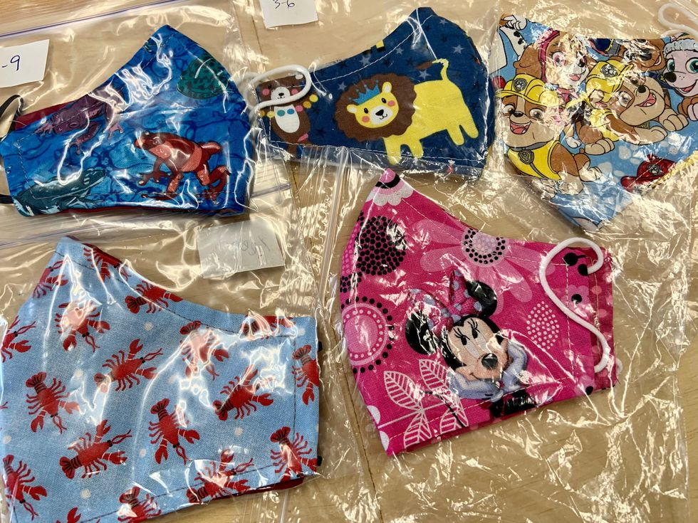 Vinyl Creations stocks a variety of face masks in different sizes and patterns for kids,...