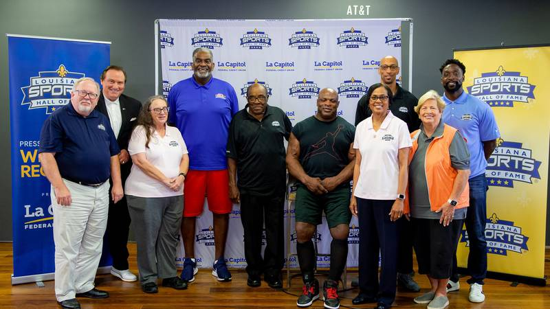 The 2020 Louisiana Sports Hall of Fame Class told stories as part of Thursday's introductory...