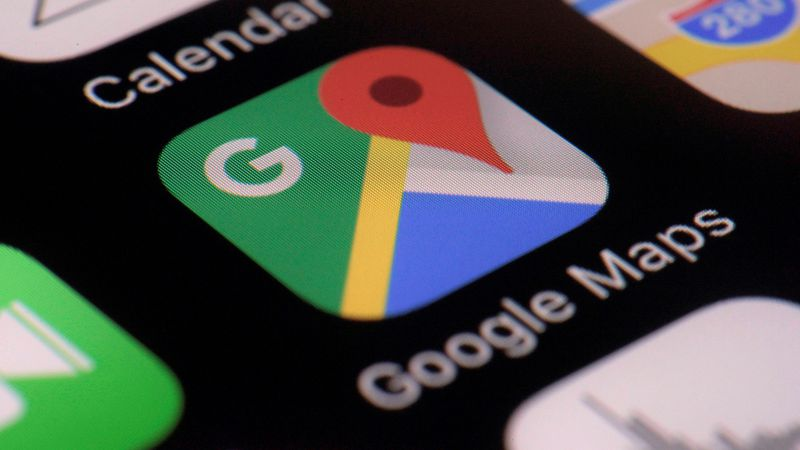 This Wednesday, March 22, 2017, photo shows the Google Maps app on a smartphone, in New York.