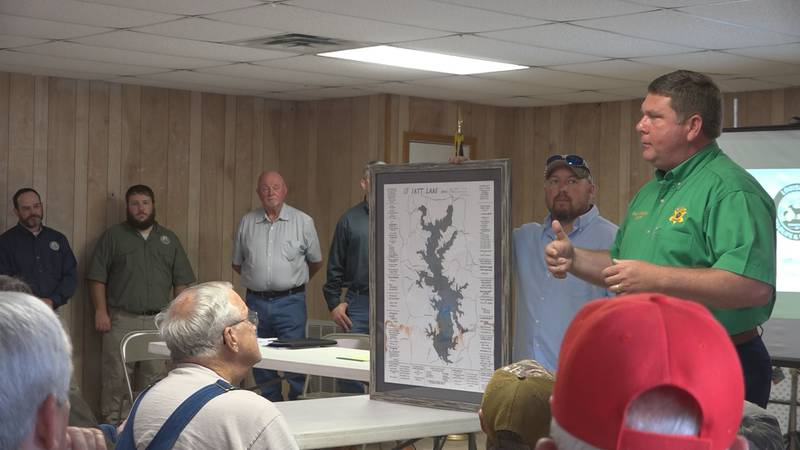 Grant Parish Sheriff Steven McCain introduces a new proposal for dredging Iatt Lake to control...