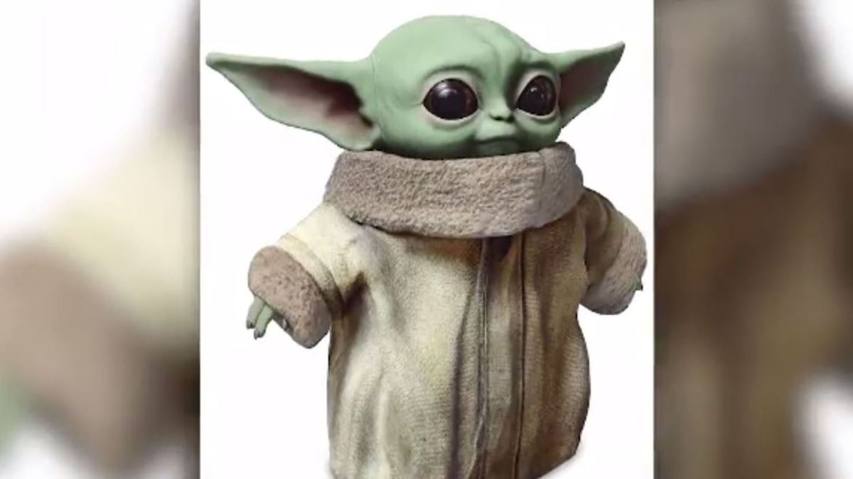 Disney's store lists Baby Yoda toys, but they won't be ready in time for Christmas. | Source: Disney / Mattel via CNN