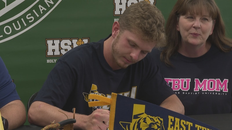 Holy Savior Menard's Shawn Gallagher will head to the next level after signing with East Texas...