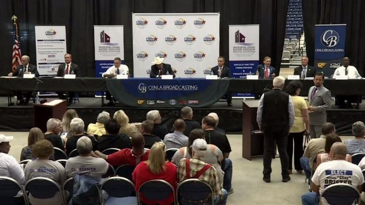 Eight candidates for the Rapides Parish Sheriff's Office met at the Rapides Parish Coliseum for a three-hour forum.   Photo Source: KALB