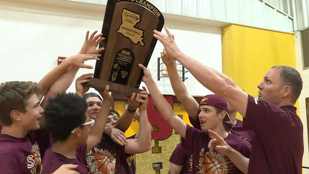 The Village of Simpson celebrated Bronco basketball's historic state title with a parade and ceremony on Sunday.<br />(KALB)
