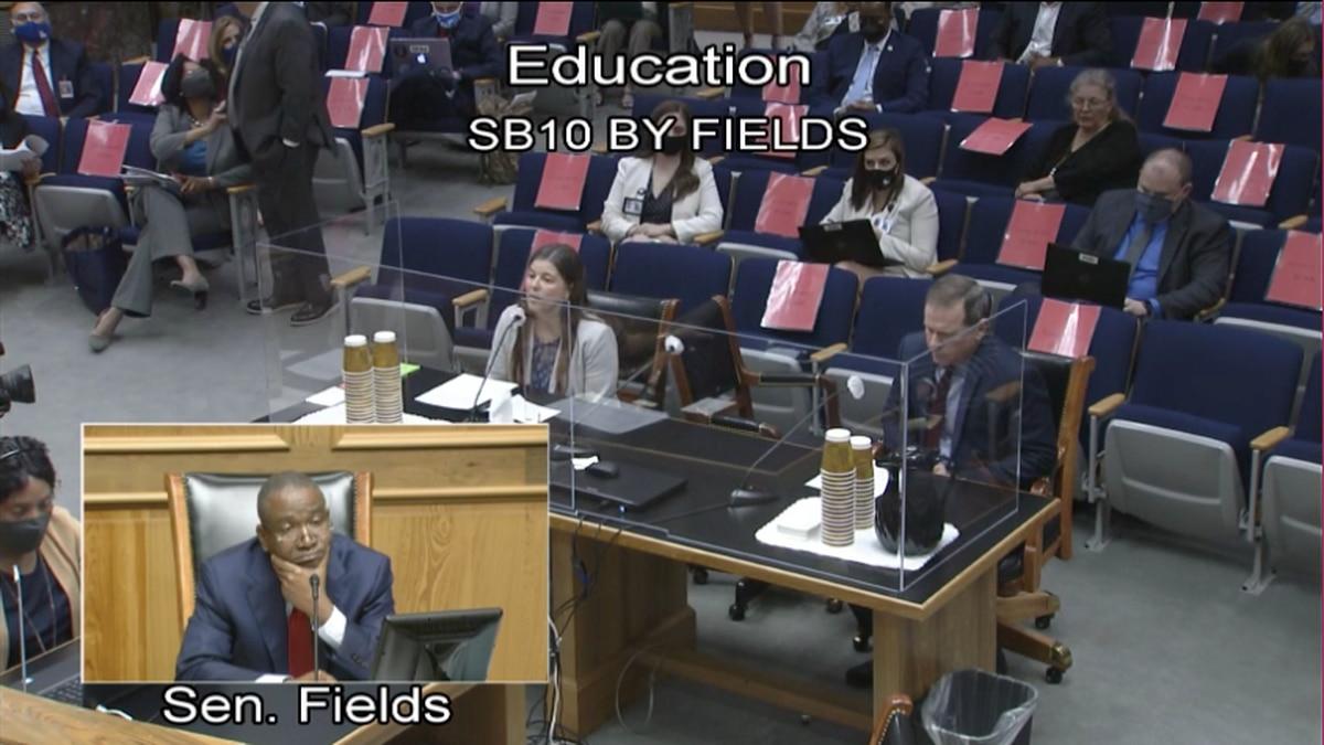 Sen. Cleo Fields heard testimony Wednesday on his bill to require mandatory kindergarten.
