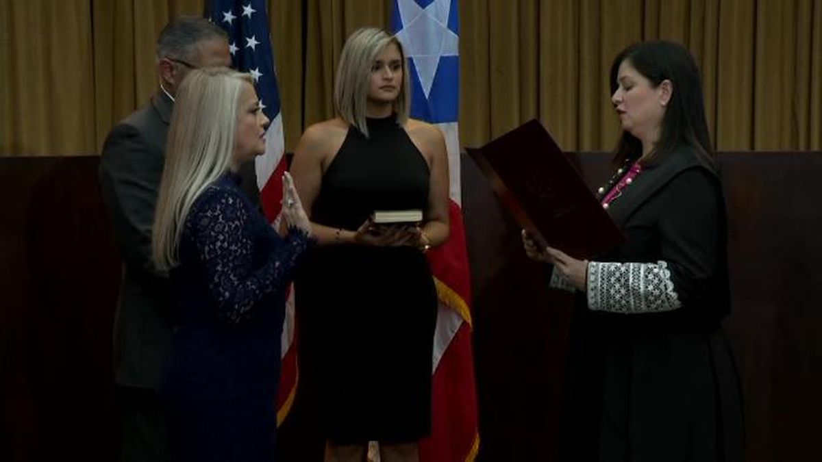 Justice Secretary Wanda Vazquez was sworn in as governor of Puerto Rico on Wednesday. (Source: CNN)