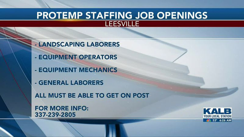 Protemp Staff Job openings 4/12/2021