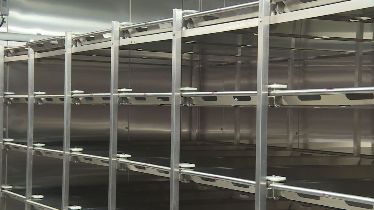 The new morgue at the North Louisiana Crime Lab in Shreveport. Staff is expected to start using...