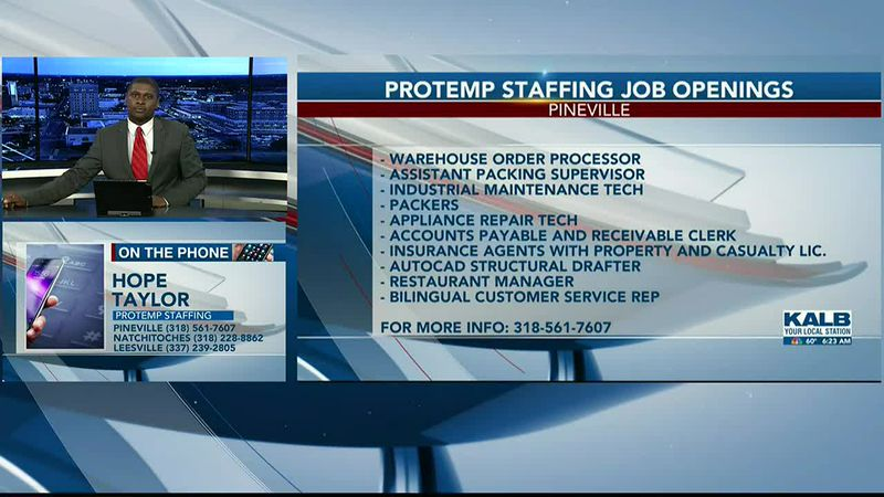 Protemp Staffing talks job openings