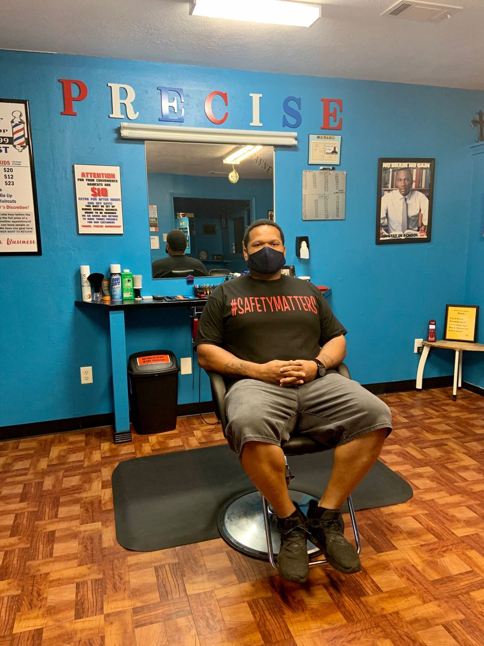 Dwayne Dupar is the owner of Precise Barbershop in Pineville. He says his wife has underlying health conditions that makes him especially concerned about COVID-19.