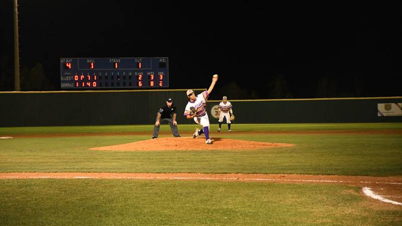 Hunter Meche threw six stellar innings, allowing just a two-run home run, leading LSUA to a 7-4...