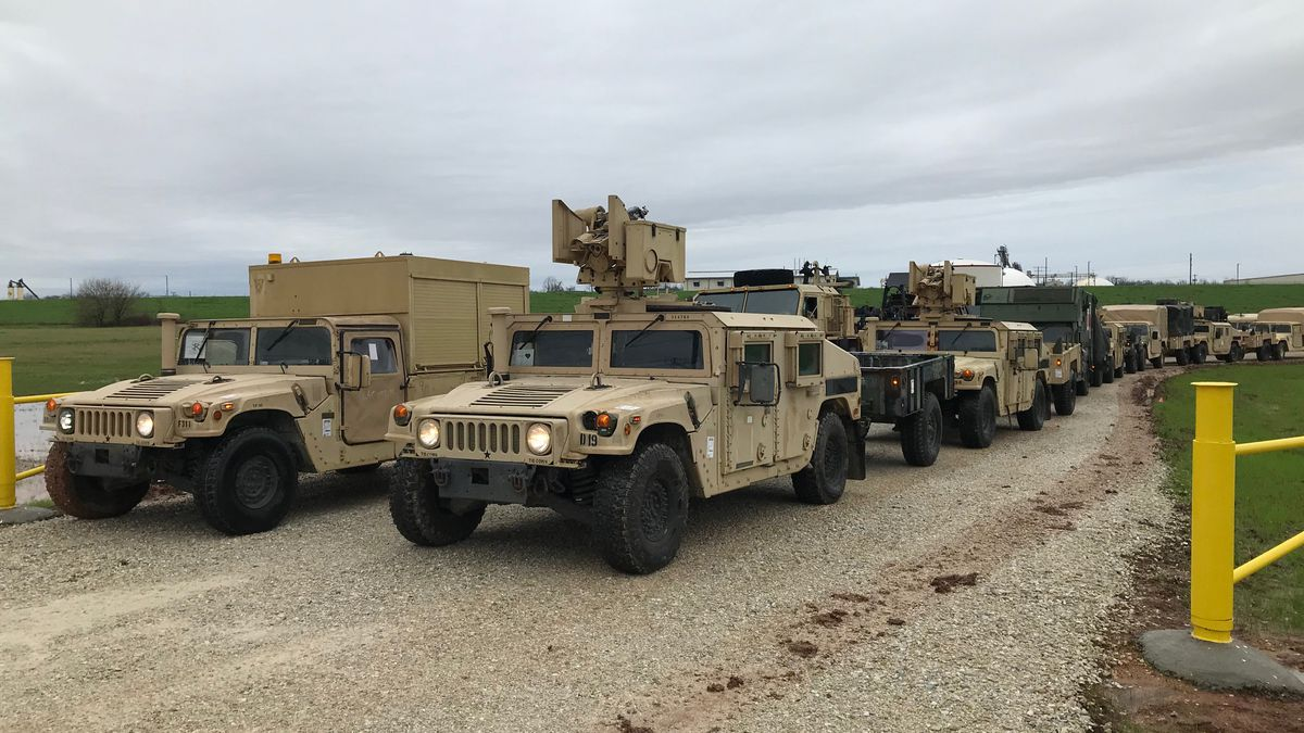 FILE PHOTO: Fort Campbell Soldiers offload equipment at the Central Louisiana Port