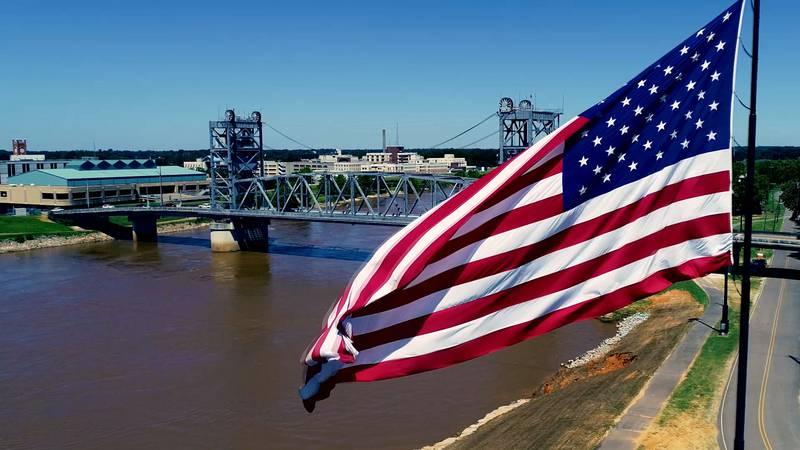 American Flag in Pineville, Louisiana
