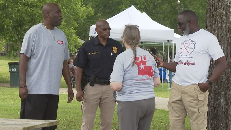 The Cenla Juvenile Officers Association (CJOA) helped their first inaugural Picnic in the Park....