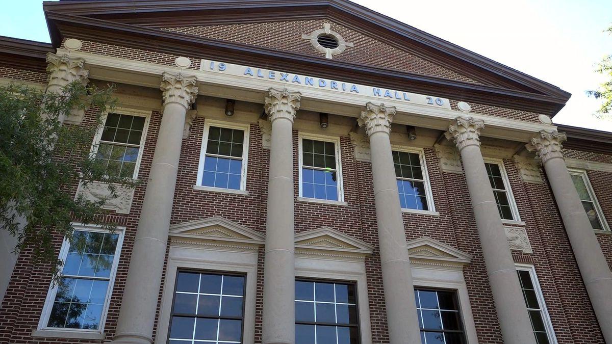 Alexandria Hall at Louisiana College in Pineville, Louisiana.
