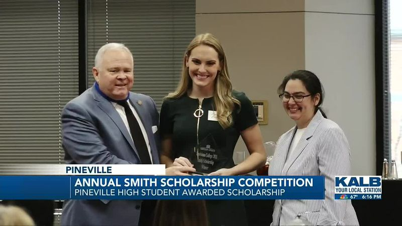 Pineville High student, Leanna Lanford, is the recipient of the 2021 Smith Scholarship at...
