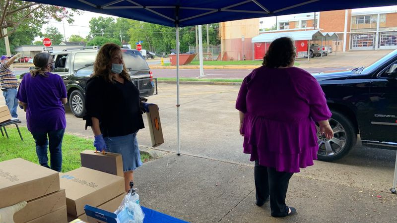 The Rapides Parish Library held a school supply giveaway.