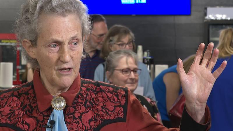 Temple Grandin visits Alexandria, Louisiana.