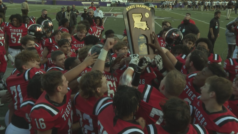 The Many Tigers won their second state title in school history after beating the Kinder Yellow...