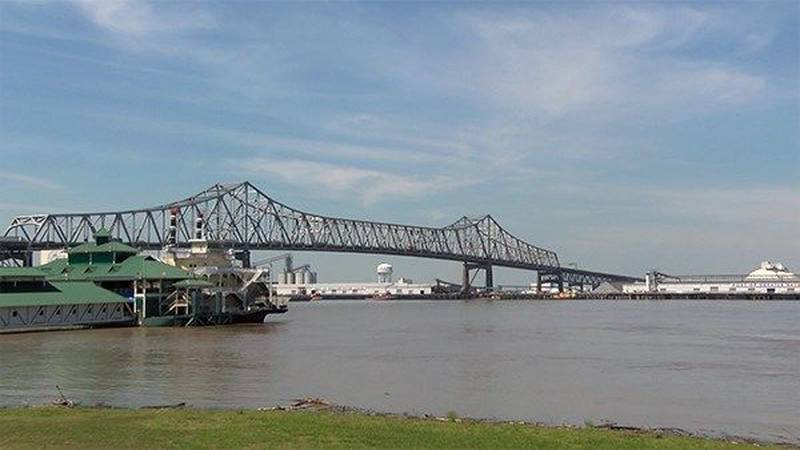The Horace Wilkinson Bridge crosses the Mississippi River on I-10 in Baton Rouge. (Source: WAFB)